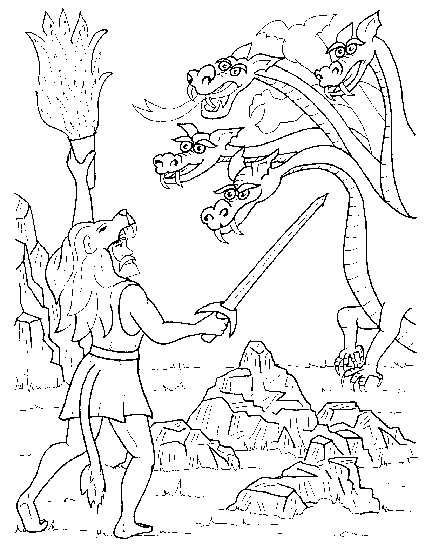 greek mythology hercules coloring pages Google GREEK
