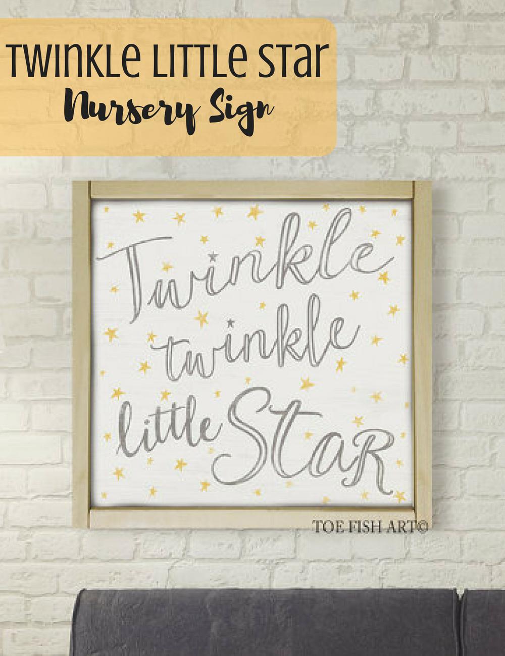 Le Little Star Nursery Sign Farmhouse Decor Home Fixer Upper