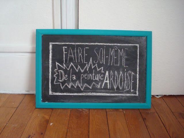 DIY  Comment faire de la peinture ardoise (et dans toutes les