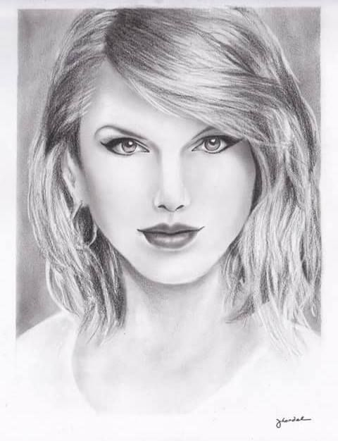 taylor swift drawing - Google Search | Rostros | Pinterest ...