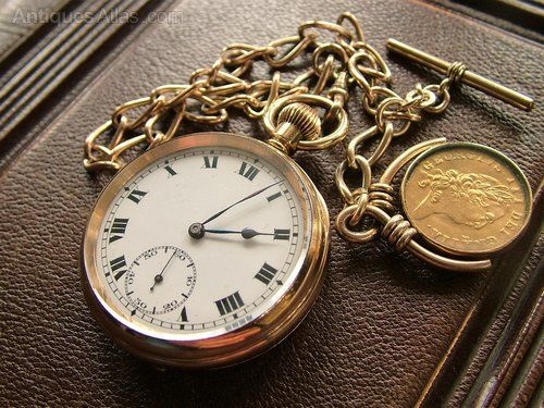 b1d46ff50 Antiques Atlas - A 1920s Record Pocket Watch, Chain And Fob ...