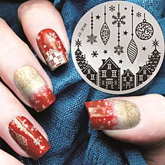 2016+Latest+Version+Fashion+Pattern+House+And+Christmas+Gift+Nail+Art+Stamping+Image+Template+Plates+–+USD+$+3.98