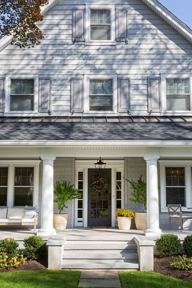 Traditional Exterior Front Porch Design Pictures Remodel Decor And Ideas Soooo Pretty: House Front Porch, House With Porch, Facade House