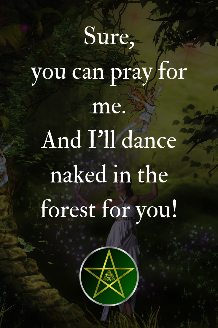 A fun Wiccan quote. Visit the Mystery Witch School