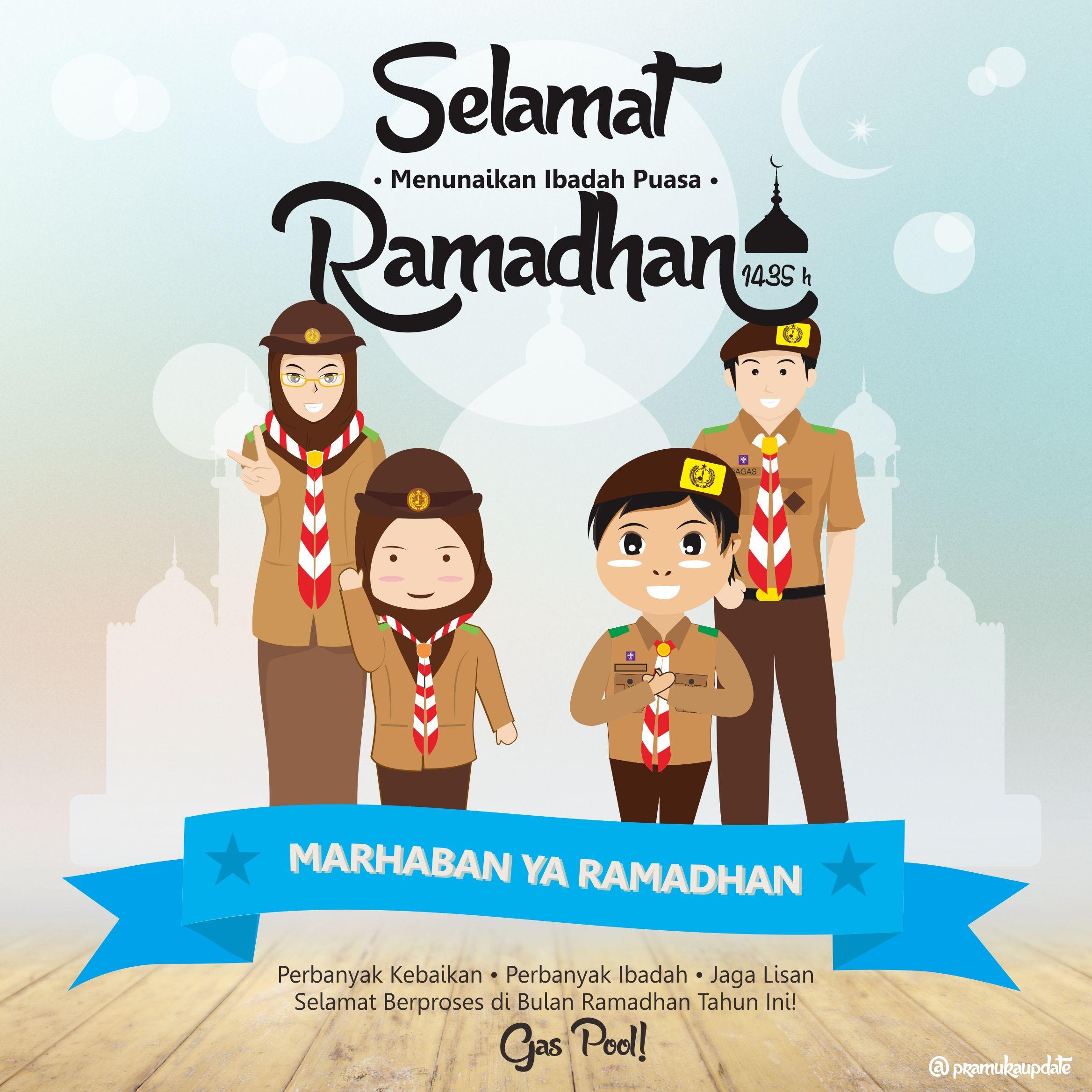 Selamat Menunaikan Ibadah Puasa Ramadhan Dengan Gambar Pramuka