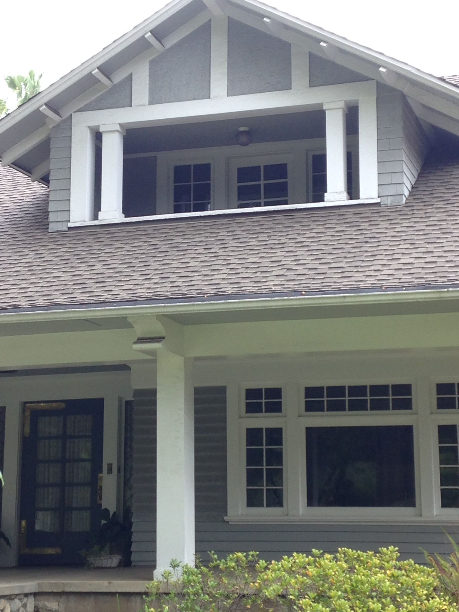 Very Cool Dormer Second Story Partially Enclose Porch Note Columns Which Add To Vertical Lines Our Front Bungalow House Design Enclosed Porches House Design