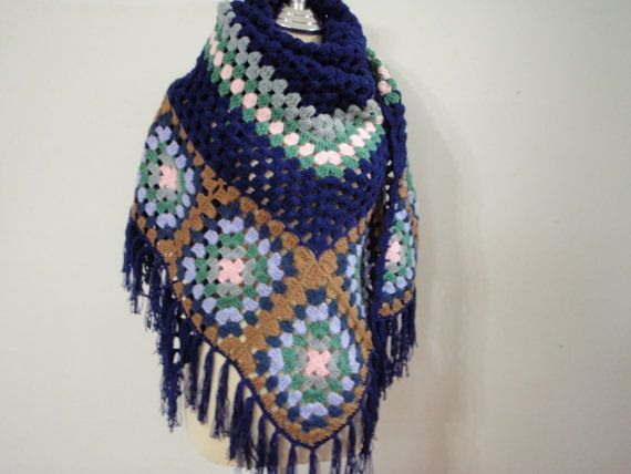Shawl Motif style color of Blue by NRWhandmade on Etsy, $65.00