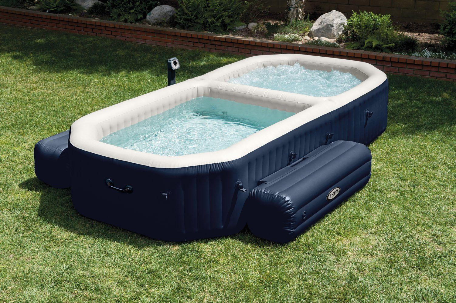 Intex 120 Bubble Jets 4 Person Octagonal Purespa Walmart Com Intex Hot Tub Tub Pools Inflatable Hot Tubs