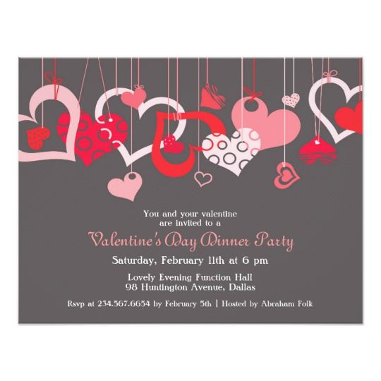 ValentineS Day Party Invitation Flat Card Having A ValentineS