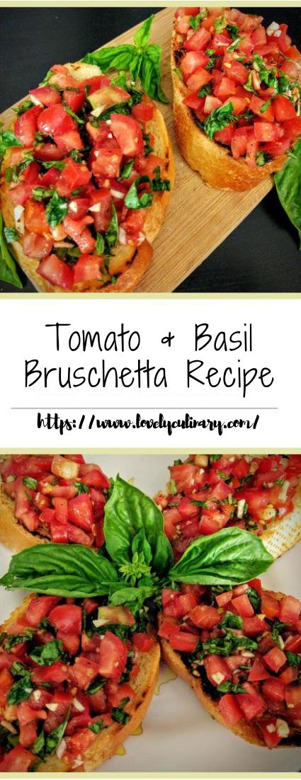 Tomato & Basil Bruschetta Recipe #vegan #vegetarian #soup #breakfast #lunch