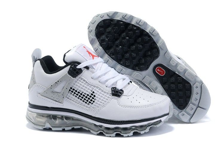 hot sale online 9234b e242b Kids Jordan 4 Air Max Fusion 2011 White Black! Only  72.80USD