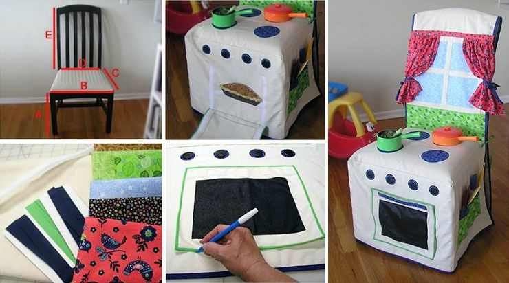 Diy Kids Kitchen Slipcover Cross Stitch And Other Crafts