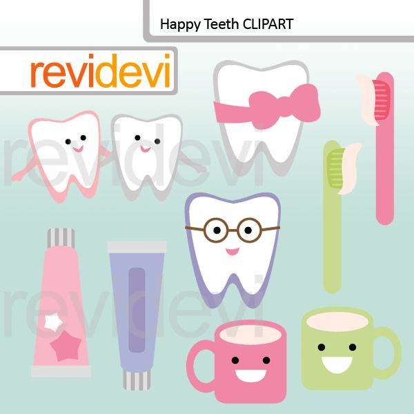 Happy Teeth Clip Art Tooth ClipartTeeth ClipDental AssistantDoodle