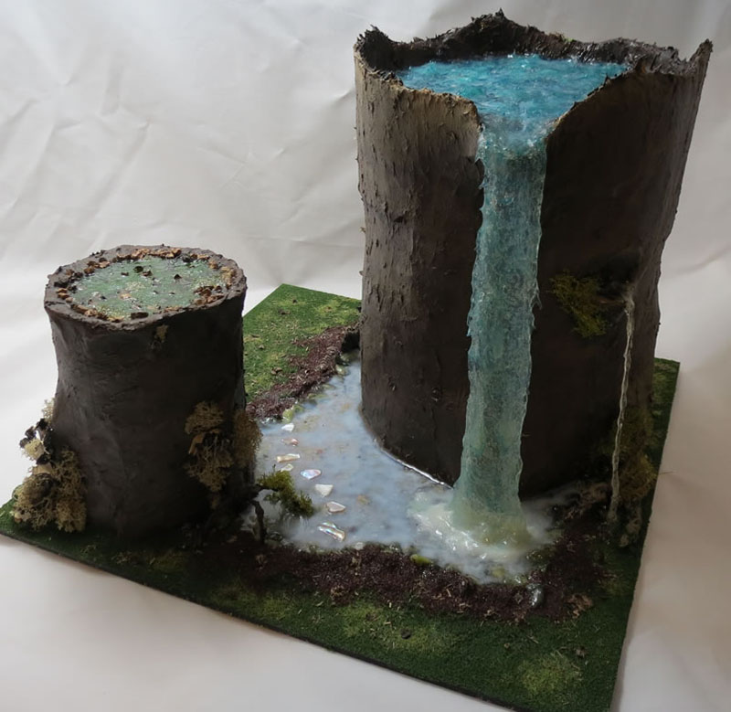 Wargaming terrain made of trash