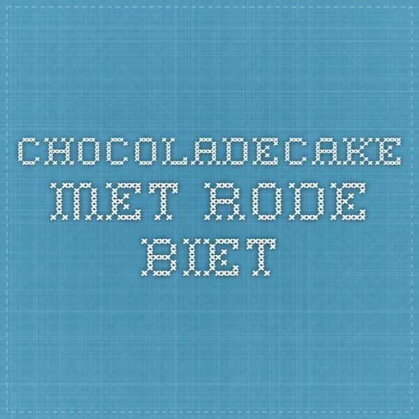 chocoladecake met rode biet