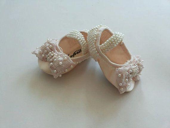 Cream Ballet Shoes Swarovski Crystal Baby Shoes By Minimajesty 49 90 Baby Wedding Shoes Crystal Baby Shoes Christening Shoes