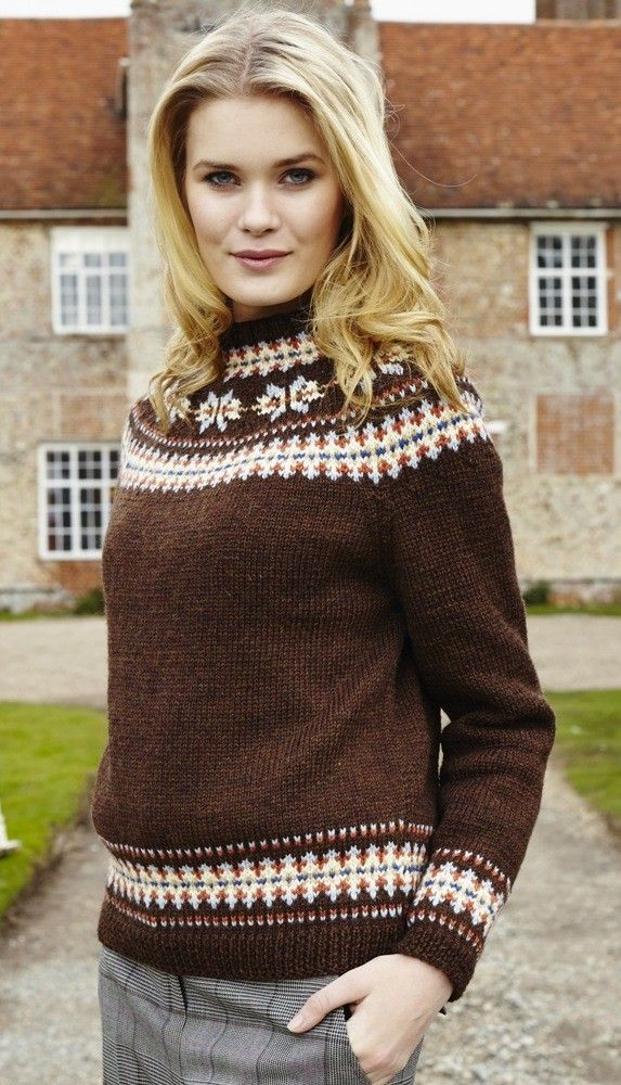 Sweater In Blue Faced Leicester Dk By Debbie Bliss Black