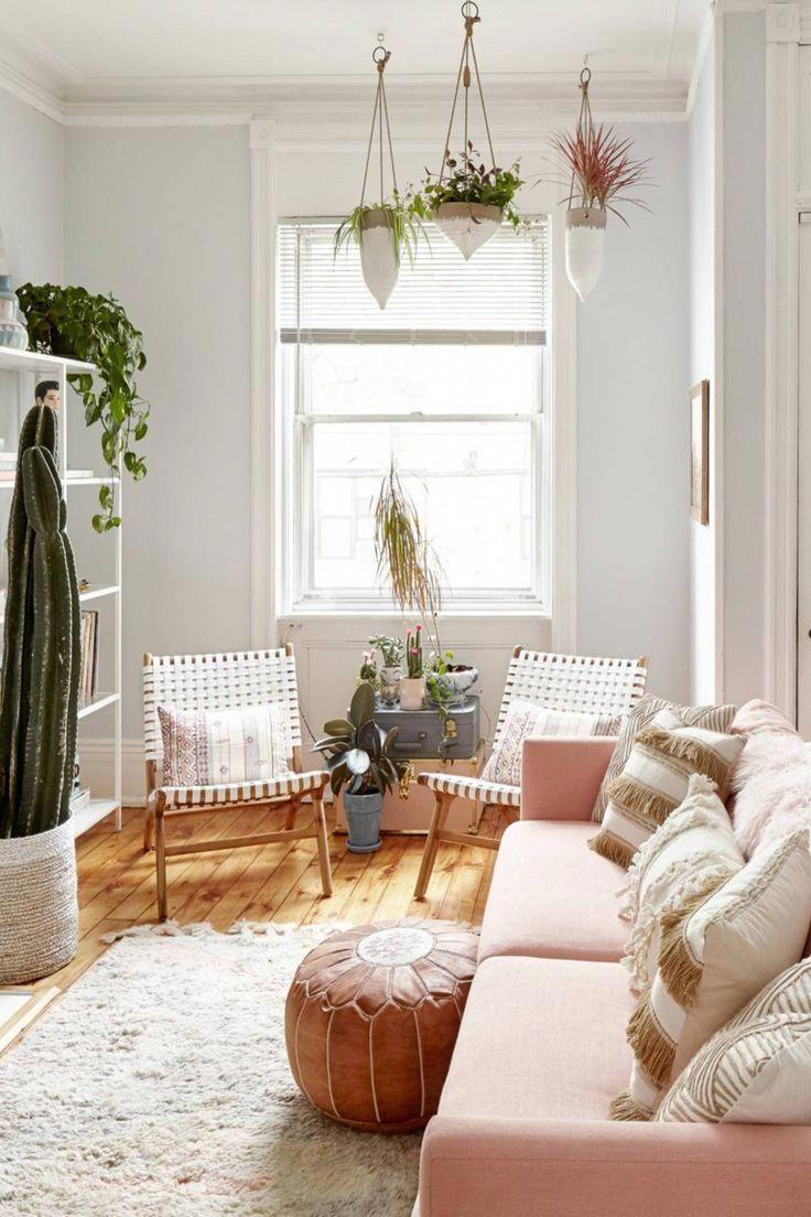 51 boho chic living room ideas  pink so feminine decor