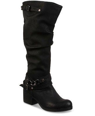 Womens Boots CARLOS by Carlos Santana Cassie Wide Shaft Brown