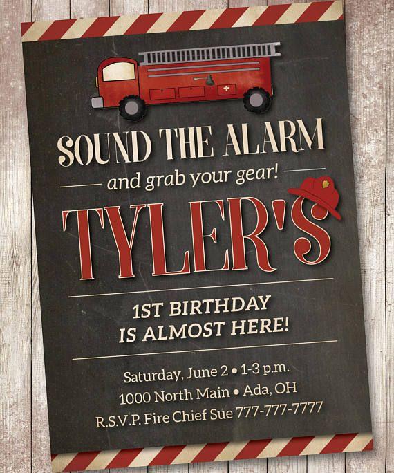 Boy Fire Truck Party Fire Truck Boy Birthday Fire Truck Birthday