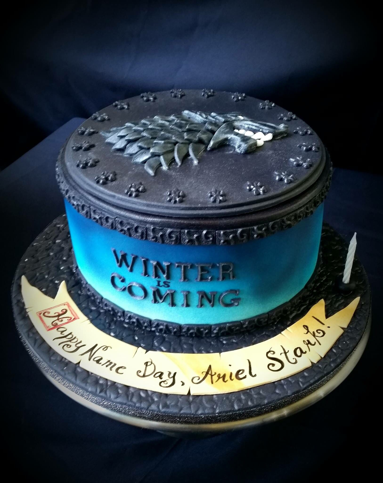 Birthday Cake For My Hubby 2016 Got House Of Stark By Frank Carol S Cakes Game Of Thrones Cake Game Of Thrones Birthday Cake Game Of Thrones Birthday