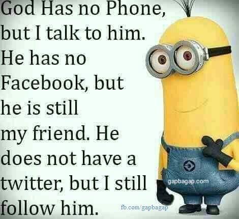 Funny Joke About God Vs. Social Media Ft. #Minions
