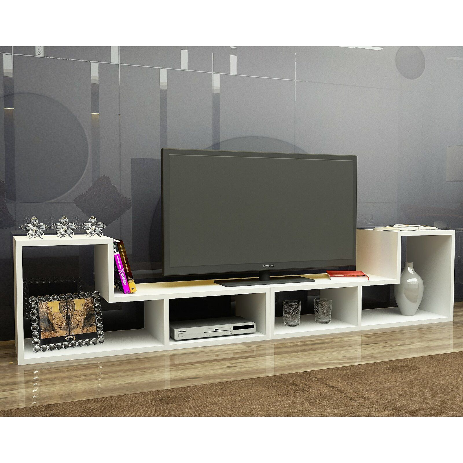 Bynum Tv Stand For Tvs Up To 55 Tv Stand Wood Living Roo