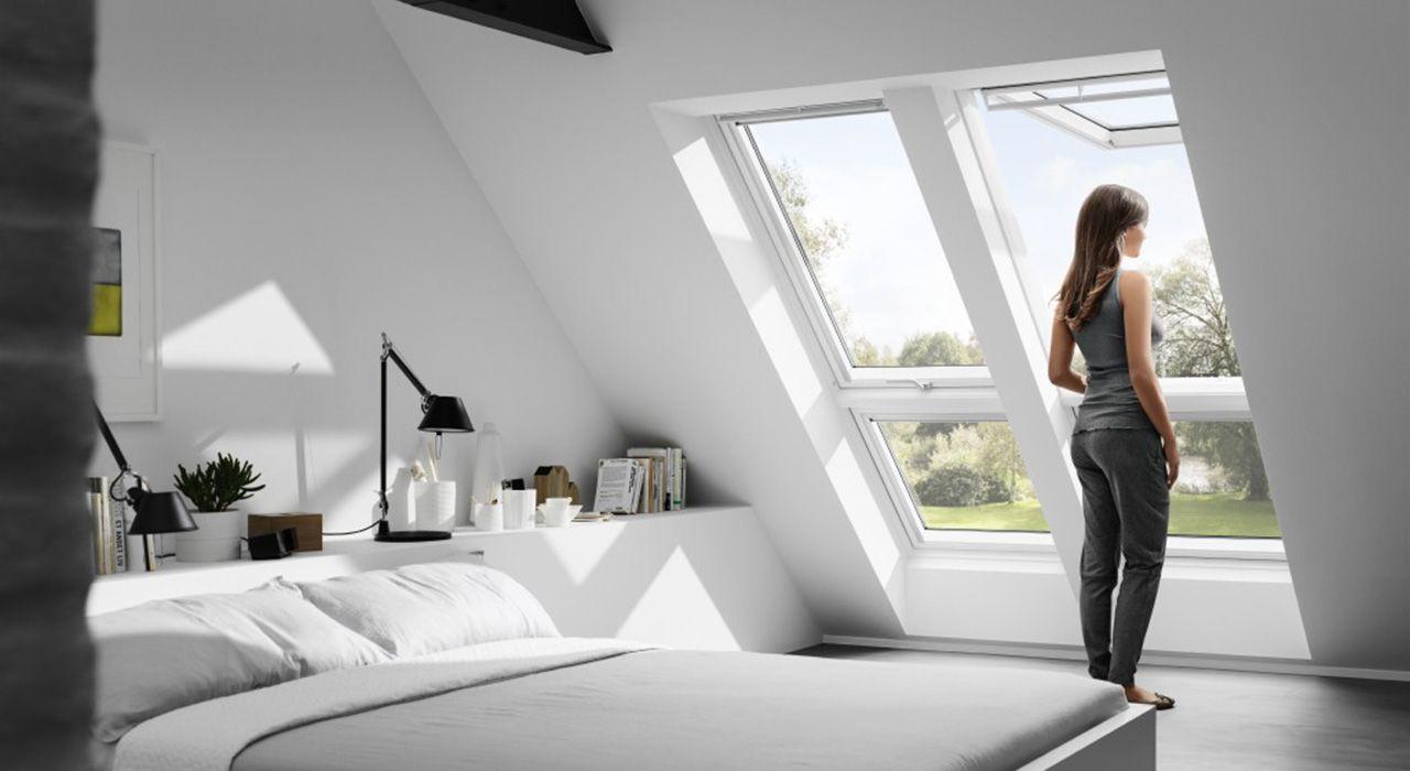 Dachausbau Ideen für Schlafzimmer | VELUX Dachfenster … | Pinteres…