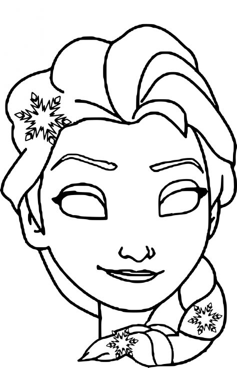 Masque elsa desenhos pinterest disney princess coloring pages carnival crafts et mask for - Coloriage elsa ...