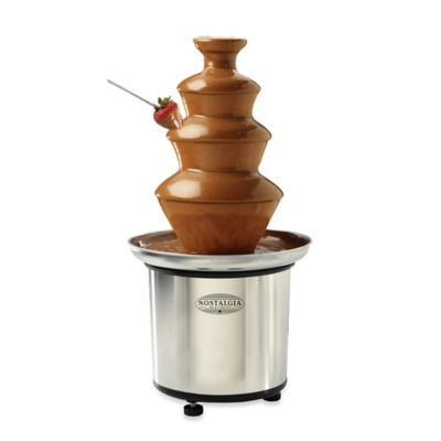 Nostalgia™ Electrics 3-Tier Stainless Chocolate Fondue Fountain - www.BedBathandBeyond.com #chocolatefonduerecipes