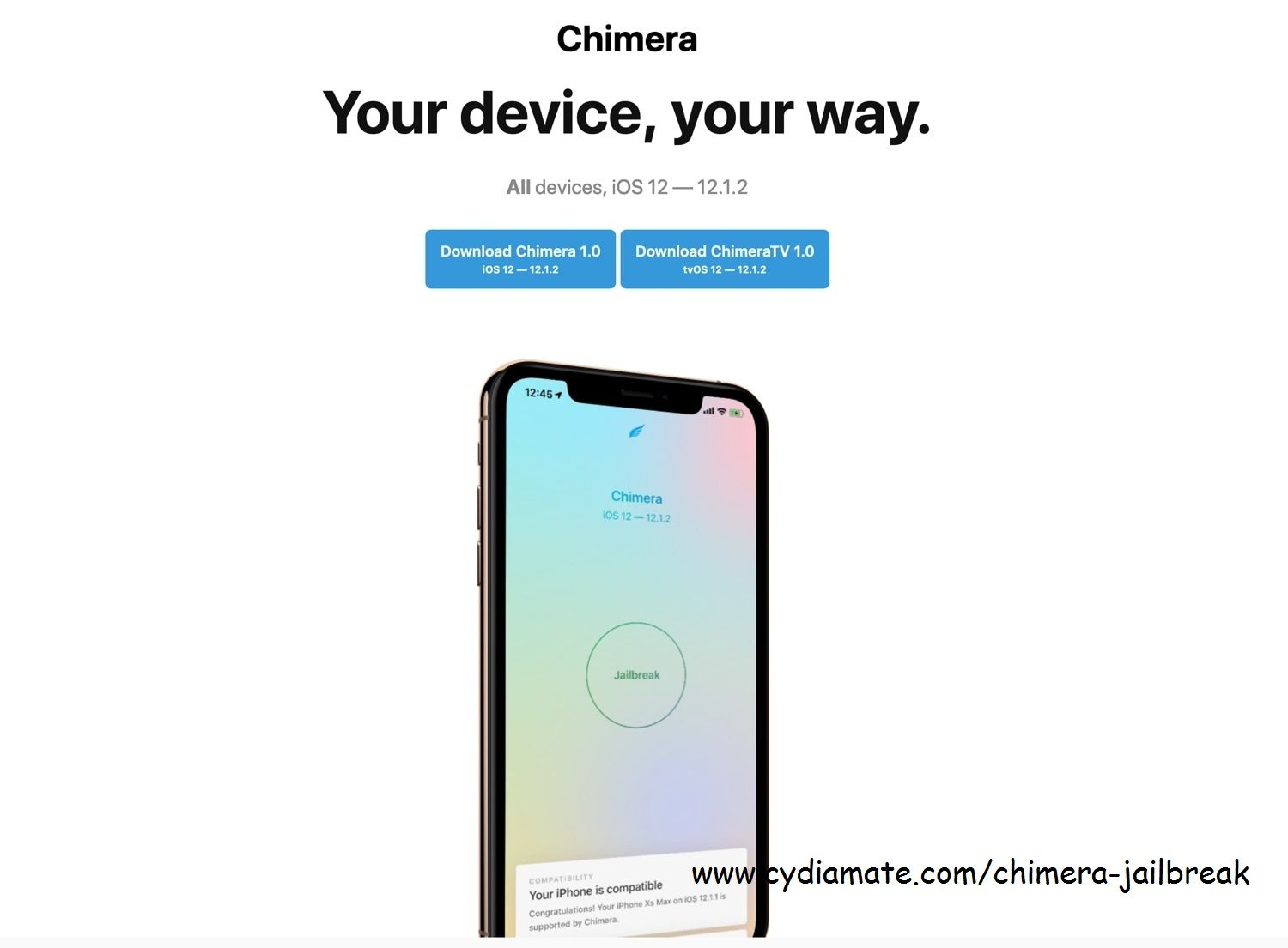The complete guide to Chimera Jailbreak Ios update