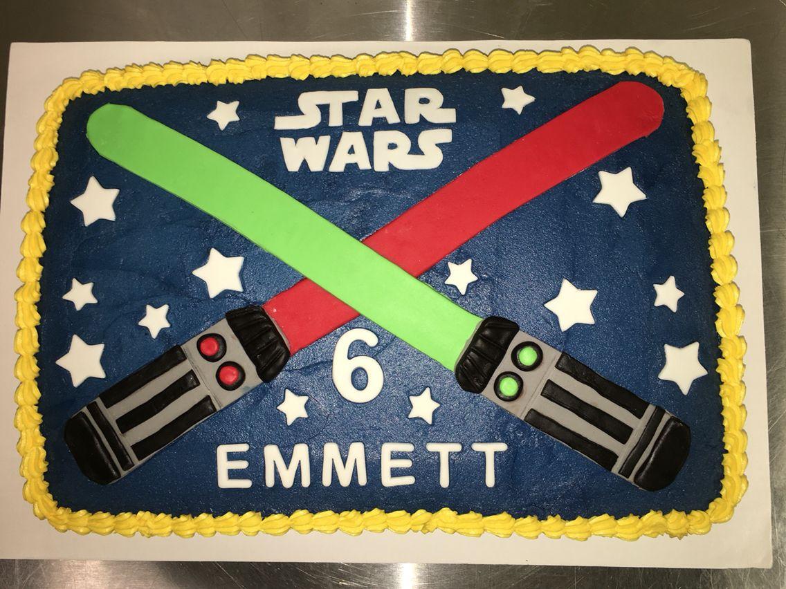Remarkable Star Wars Lightsaber Cake Birthday Cake Kids Star Wars Light Funny Birthday Cards Online Sheoxdamsfinfo