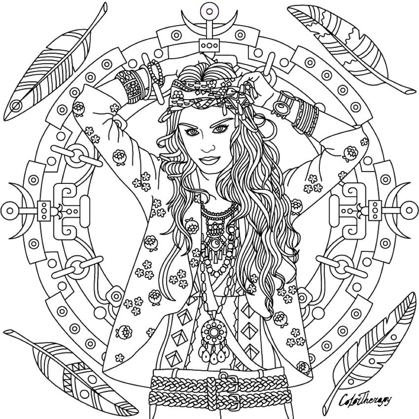 boho coloring page coloring pages coloring pages for girls blank coloring pages fairy. Black Bedroom Furniture Sets. Home Design Ideas