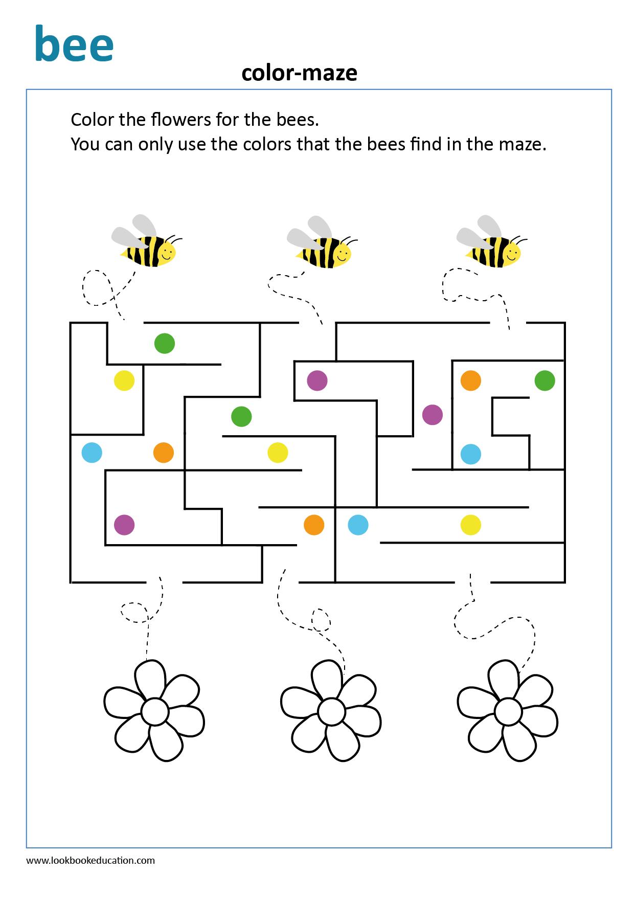 Maze Worksheet Spring Worksheet Spring Worksheets Kindergarten Spring Worksheets Preschool [ 1756 x 1242 Pixel ]