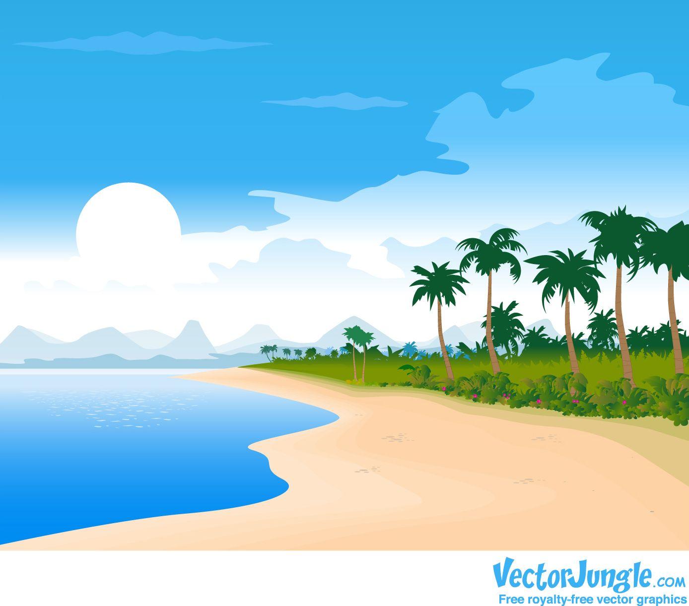 Cartoon Beach Wallpaper Cartoon Images Beach Cartoon Beach Wallpaper Beach Images