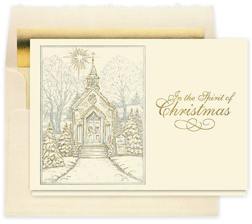 Christmas Chapel Holiday Card