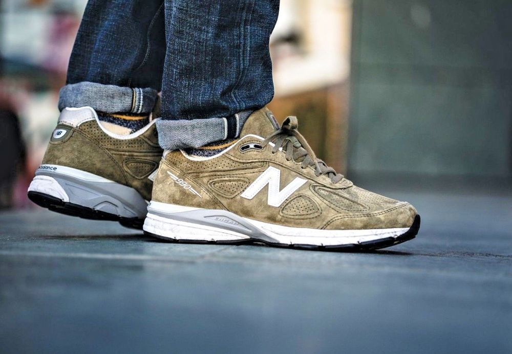 New Balance 990 Made In The USA -  Covert  Olive   Grey Trainers All ... 33acdcc3a07eb