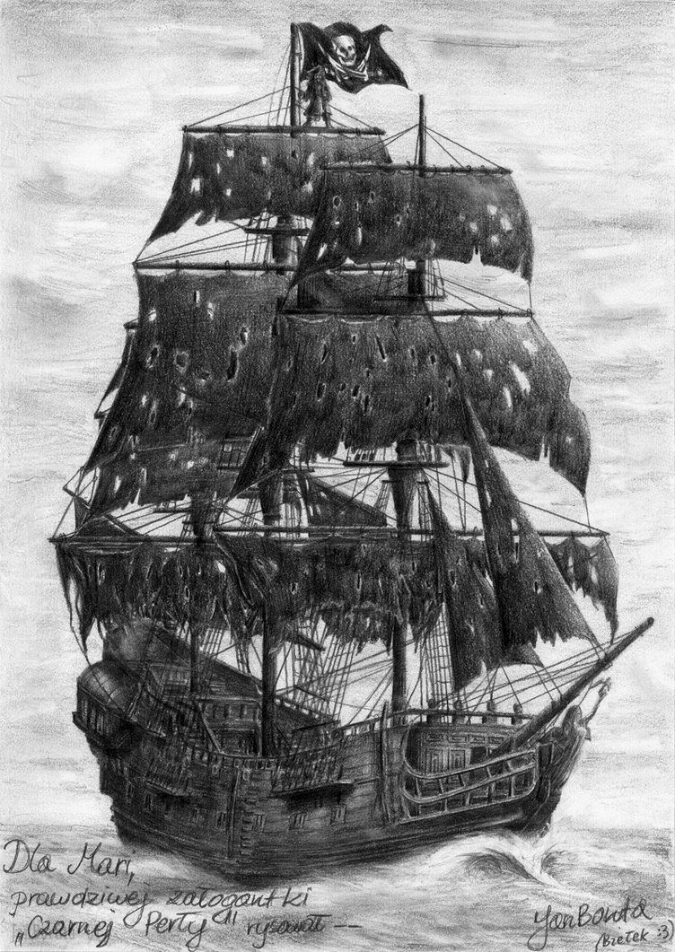 The Black Pearl By Janboruta On Deviantart Pirate Ship Tattoos Pirate Ship Drawing Ship Tattoo