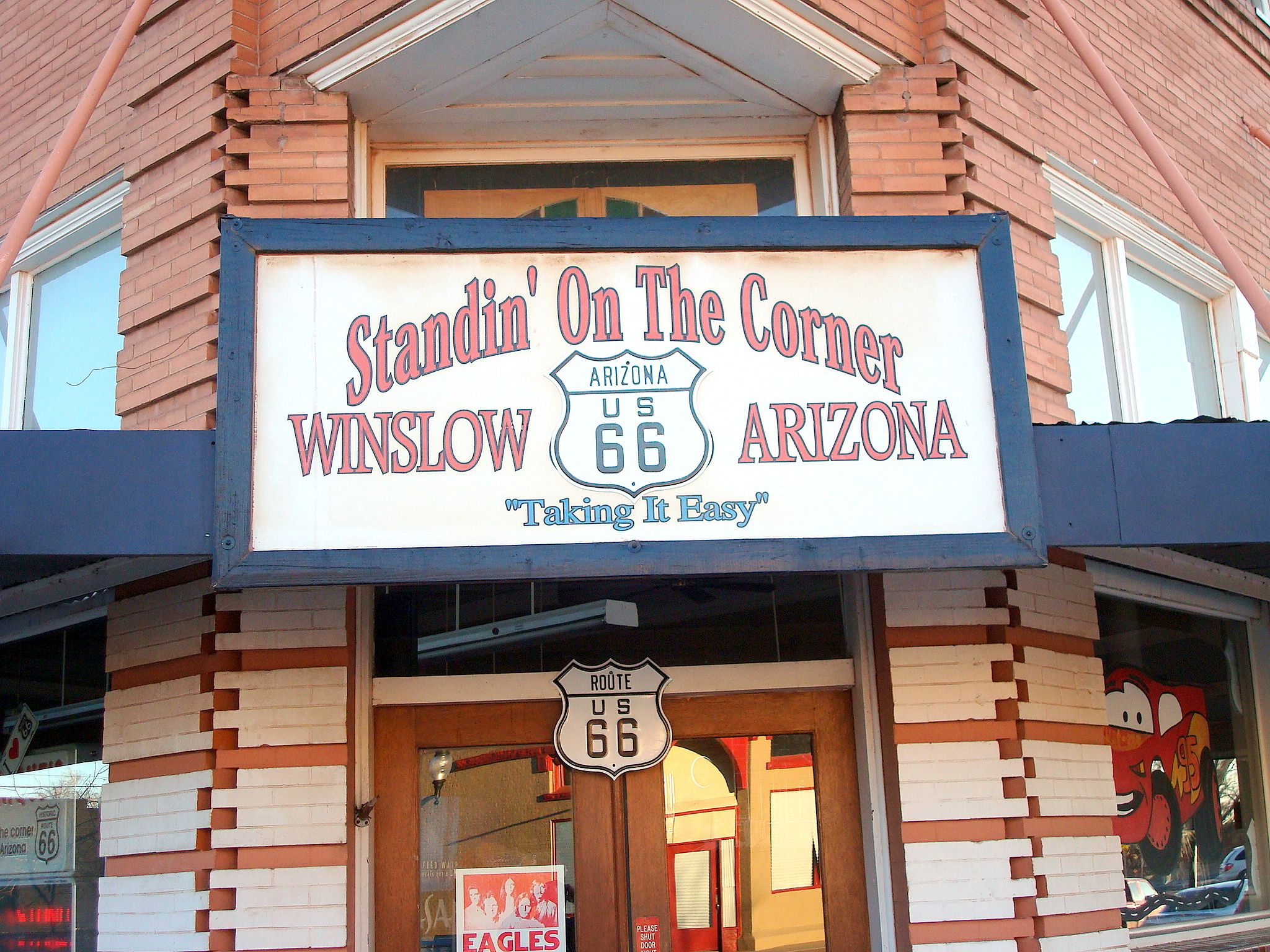 standing on the corner gioft shop winslow az route 66 the mother road pinterest route 66. Black Bedroom Furniture Sets. Home Design Ideas