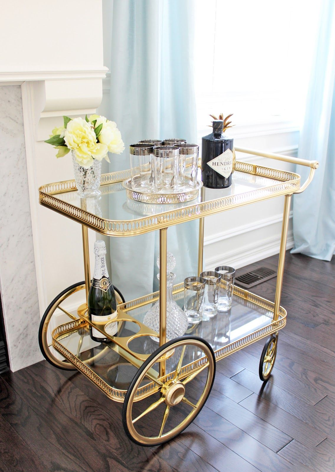 Am Dolce Vita Vintage Bar Cart Styling Silver Rimmed Numbered Tom Collins Highball Gles Mid Century Mod Rim Barware