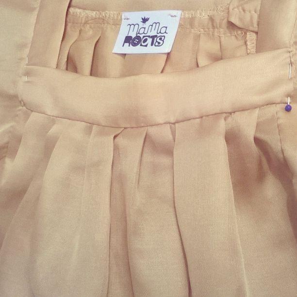 détail blouse soie et coton mamaroots