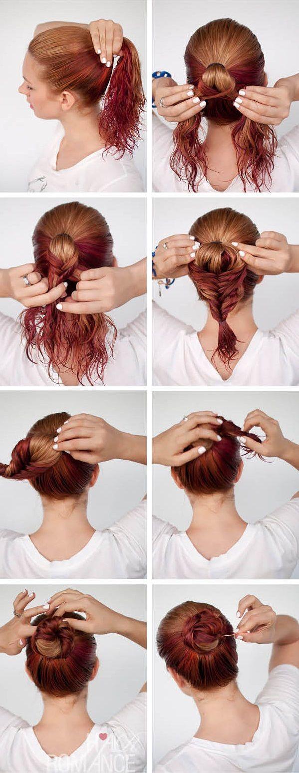 Peinados con cabello mojado peinado pinterest hair style