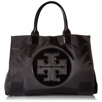 Tory Burch Womens Black Nylon Patent Leather Ella Tote BAG - TB 50009811-009