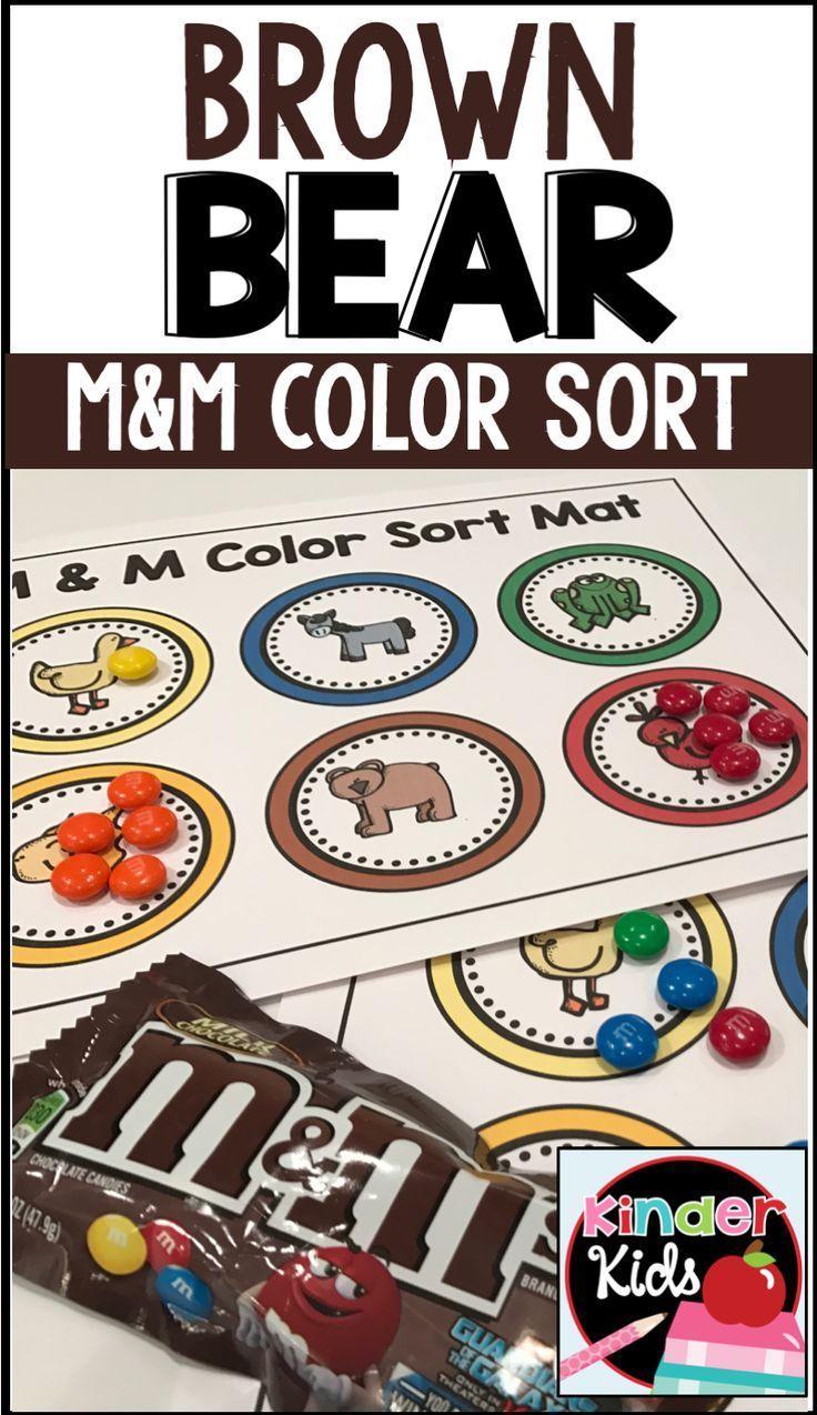 Brown bear math and literacy activities kindergarten activities