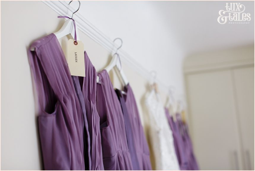 Beautiful organza bridesmaids dresses in a lilac purple. Liverpool ...