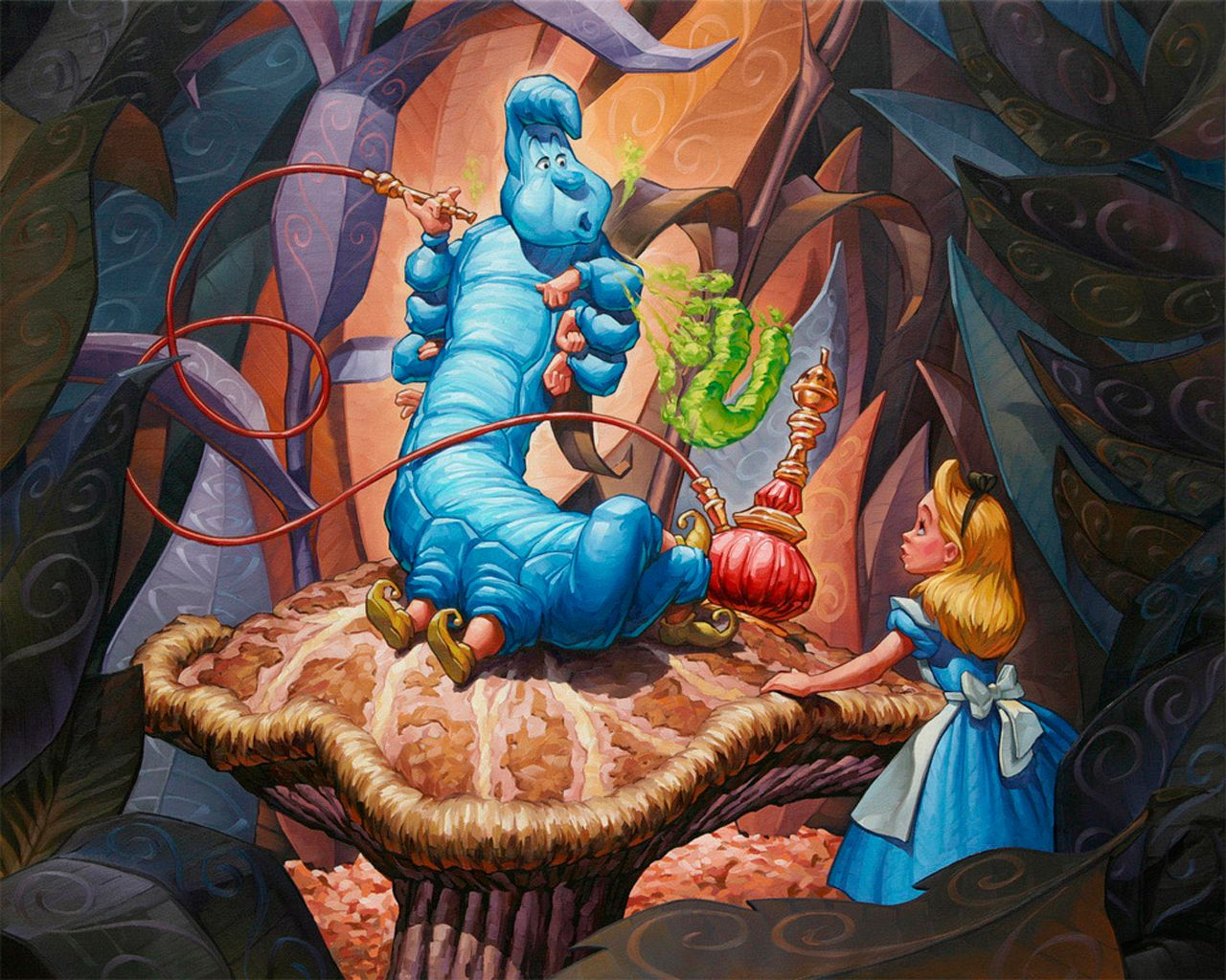 Alice in Wonderland Caterpillar Smoke Who Are You | greg ...