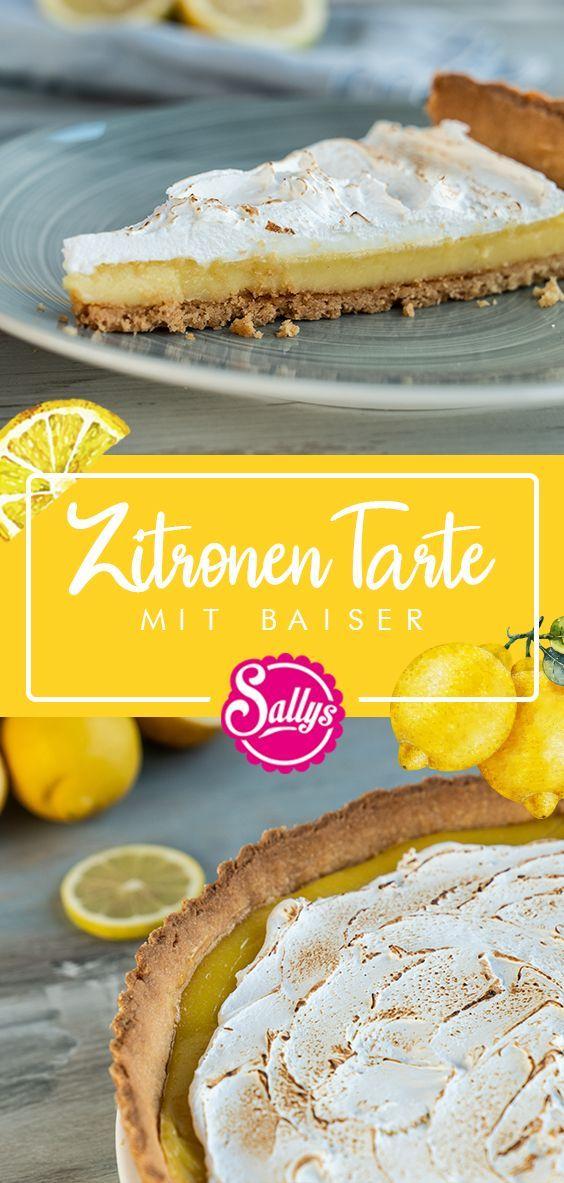 Zitronen Tarte mit Baiser / Backen mit Ela
