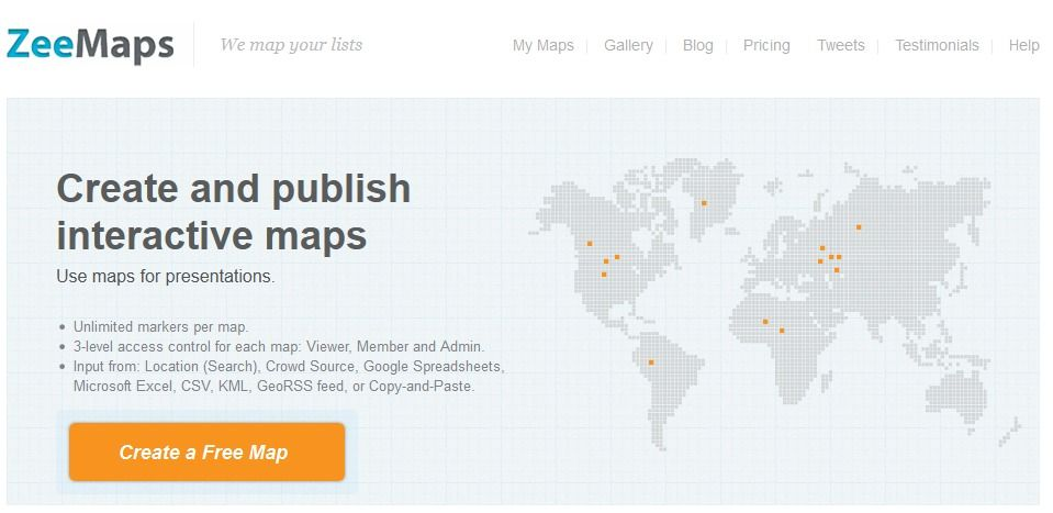 Map creator online to make a map with multiple color pins and