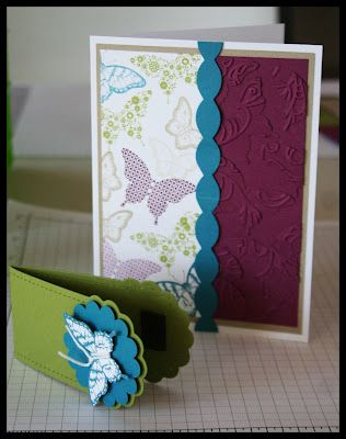 Wonder if she got this idea from one of my swaps for convention a few years ago... Still love the concept of the magnetic bookmark as part of the card.