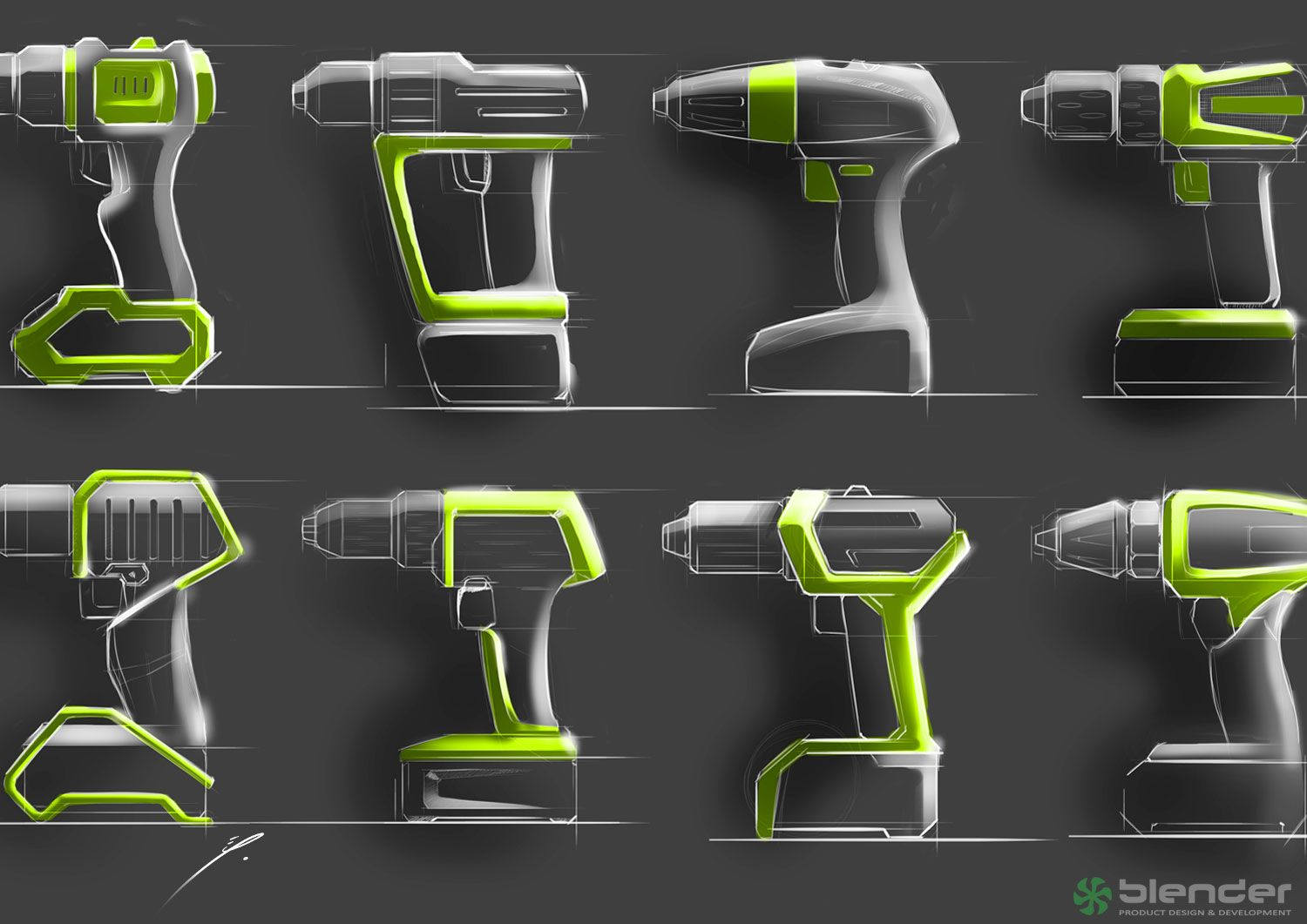 Hand drill concept variations blender product design for Industrial design product development